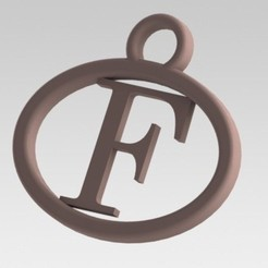 Dije F.JPG Download STL file I said with a letter F • 3D printing object, nldise