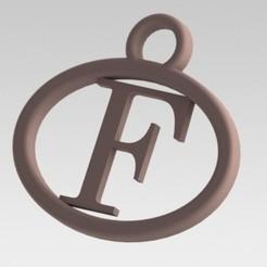 Imprimir en 3D Dije con letra F, nldise