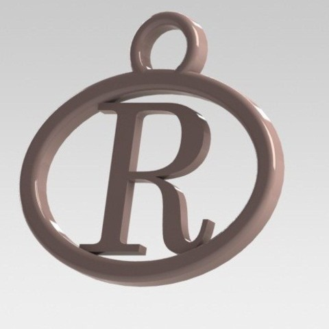 I said with letter R 3D model, nldise