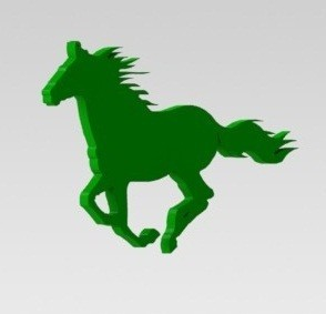 Caballo 1.JPG Download STL file Horse silhouette • Object to 3D print, nldise