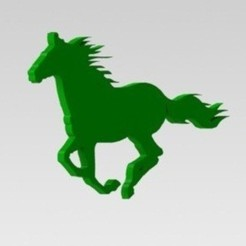 3D printer models Horse silhouette, nldise