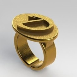3D printer files Letter D ring, nldise
