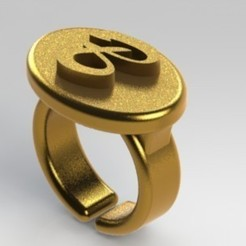 Download 3D printing templates Ring letter B, nldise