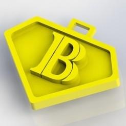 B.JPG Download STL file Pendants letter B • 3D print object, nldise