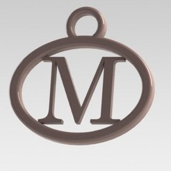 Dije M.JPG Download STL file I said with a letter M • Model to 3D print, nldise
