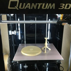 Download free 3D printing templates Round Center-Column Table, Quantum3D