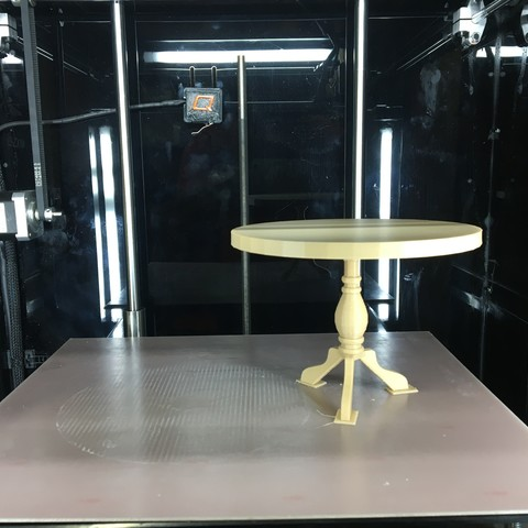 IMG_0280.JPG Download free STL file  Round Center-Column Table • 3D print model, Quantum3D
