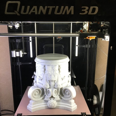 Download free STL files Marble Column, Quantum3D