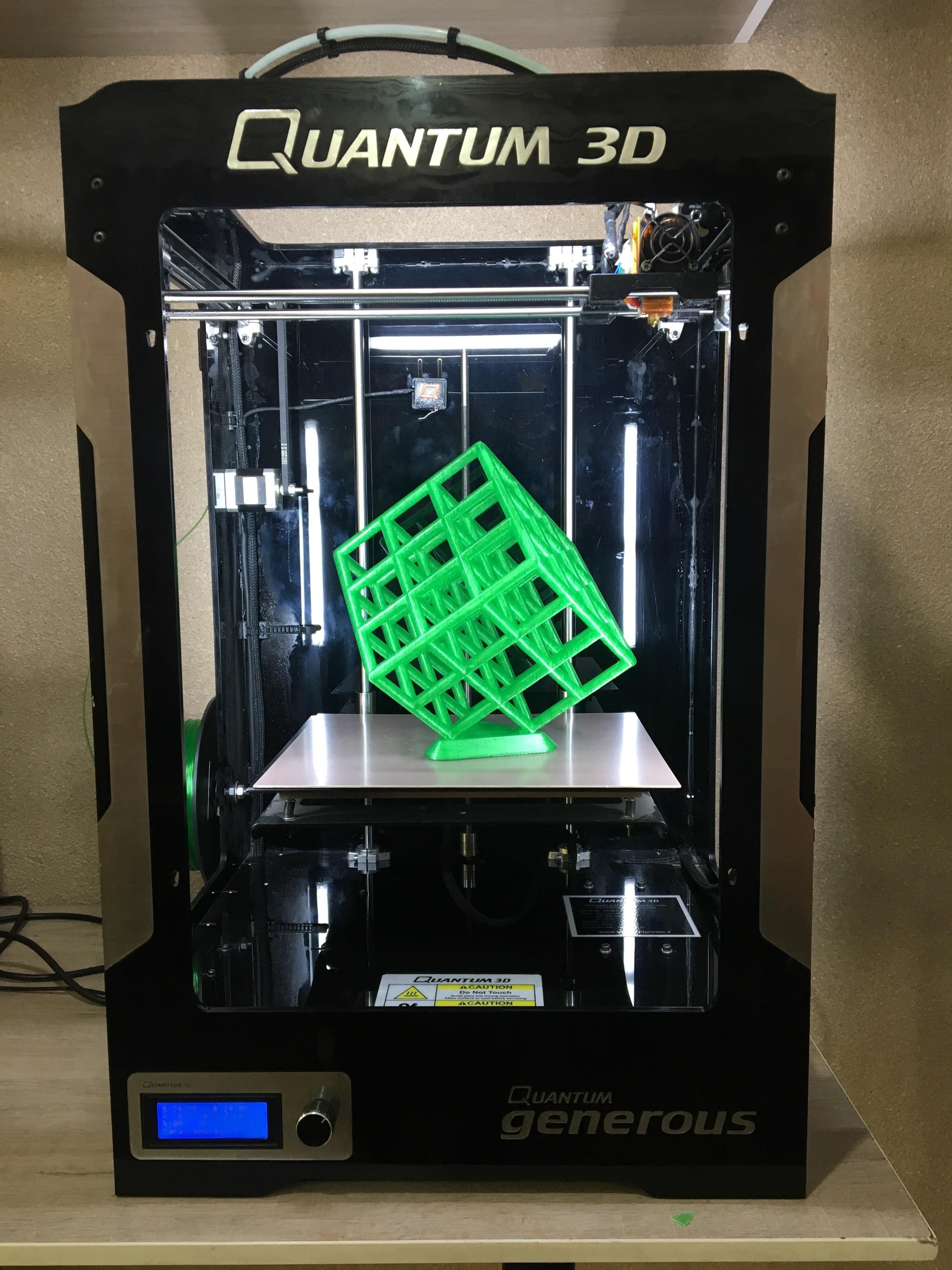 IMG_0332.JPG Download free STL file Lattice Cube • 3D print design, Quantum3D