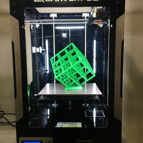 Free stl file Lattice Cube, Quantum3D