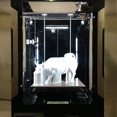 Download free 3D printing templates Wall Street Bull, Quantum3D