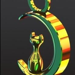 Luna 1.JPG Télécharger fichier STL gratuit Collier lune et chat • Design à imprimer en 3D, ErvinOsvaldoGonzlezTovar