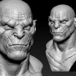 09.jpg Download OBJ file Azog • 3D printer model, Dynastinae