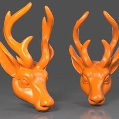 Download free OBJ file Deer Head02 • Model to 3D print, Albedo