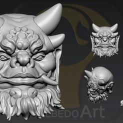 Descargar diseños 3D Cabeza de Oni Yokai1, Albedo