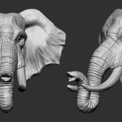 3D printing model Elephant Head, Garawake