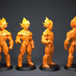 3D printer files Vegeta, Garawake