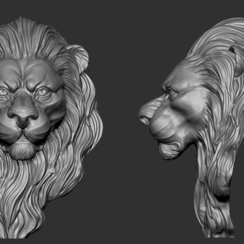 Lion_Zbrush01.jpg Download free OBJ file Lion • 3D printing model, Dynastinae