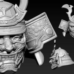 Download 3D printer designs Head Samurai Number 2, Albedo