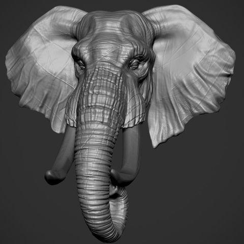 Télécharger plan imprimante 3D Tête d'éléphant, 5RVagabond