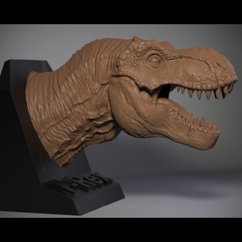 Modelos 3D para imprimir Tyrannosaurus T-rex, Garawake