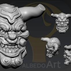Download 3D printer designs Oni Yokai 2, Albedo
