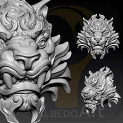Descargar archivo 3D Tiger Head ON.7, Albedo