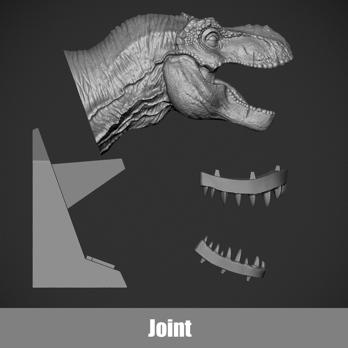 Joint.jpg Download OBJ file T-rex Tyrannosaurus • 3D printable object, Dynastinae