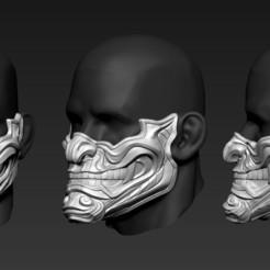 01.jpg Télécharger fichier OBJ gratuit Mask01 • Objet pour imprimante 3D, Dynastinae