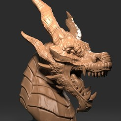 Download free 3D printer model Dragon Head 03, Albedo