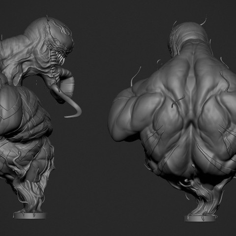 Venom_Render02.jpg Download OBJ file Venom • 3D printing object, Dynastinae