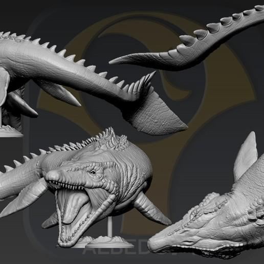Descargar STL Mosasaurus, Albedo
