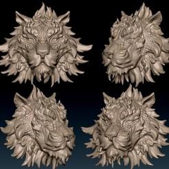 Télécharger modèle 3D Tête de tigre numéro 08, Albedo