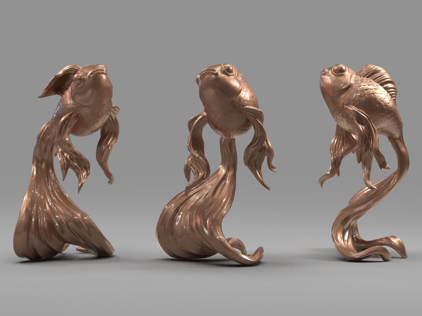K09.326.jpg Download free OBJ file Goldfish • 3D printer object, Dynastinae
