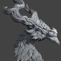Descargar archivos 3D gratis Cabeza de Dragón 02, Albedo