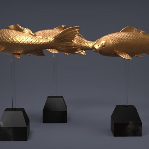 3D printer models Carp Fancy, Garawake