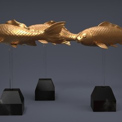 Download OBJ file Carp Fancy • Object to 3D print, Albedo