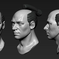 01.jpg Download OBJ file Head Samurai • Model to 3D print, Dynastinae