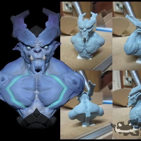 Free 3D printer model Dark Blue, Garawake