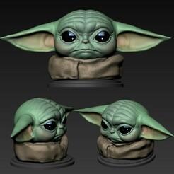 00.jpg Download OBJ file Yoda baby (The Child) • 3D printer model, Dynastinae
