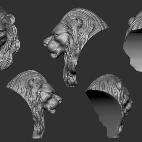Lion_Zbrush03.jpg Download free OBJ file Lion • 3D printing model, Dynastinae