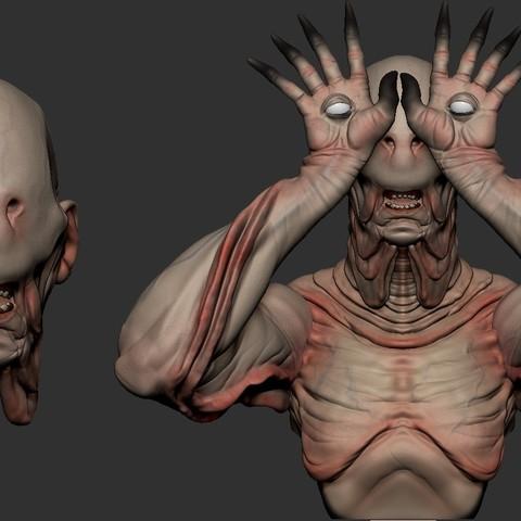 3D print files Pale Man, Garawake