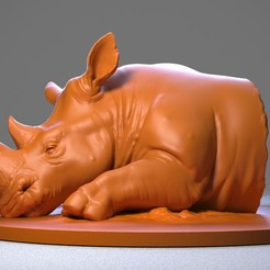 Download free 3D printing models Rhino, Albedo
