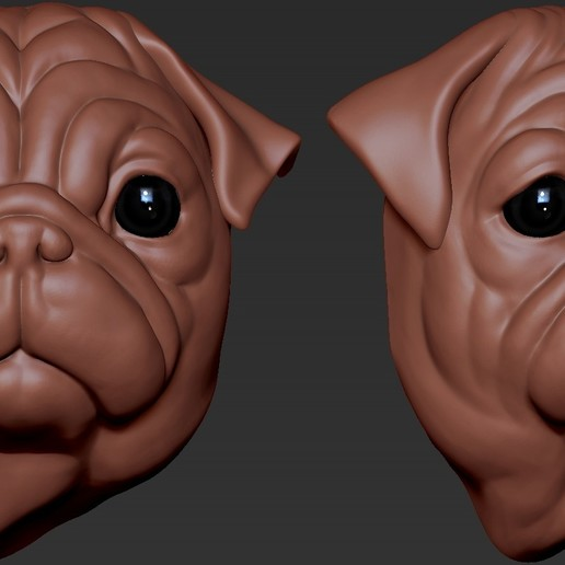 Download free 3D printer model Pug Head, 5RVagabond