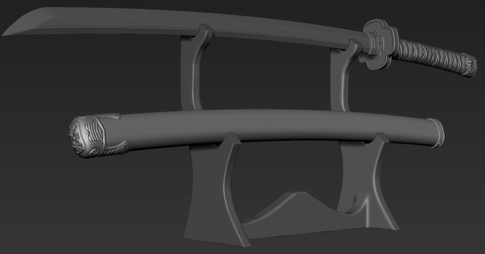 ZBrush Document03.jpg Download free STL file katana 01 • 3D printable template, Dynastinae