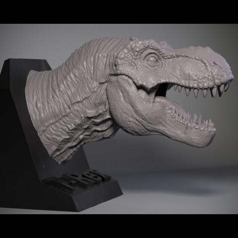 02.jpg Download OBJ file T-rex Tyrannosaurus • 3D printable object, Dynastinae