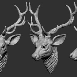 Download 3D print files Deer head, 5RVagabond