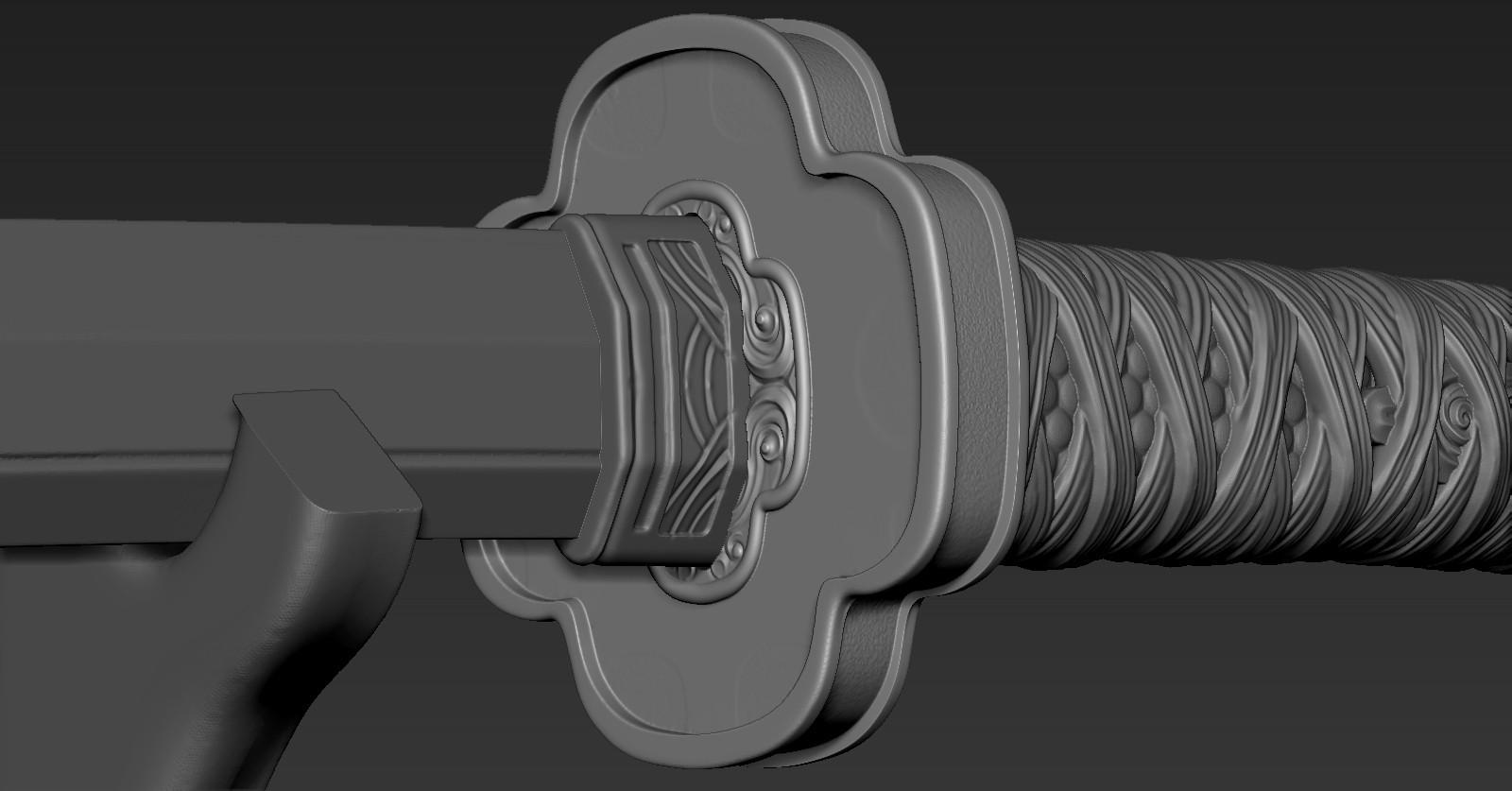 ZBrush Document04.jpg Download free STL file katana 01 • 3D printable template, Dynastinae