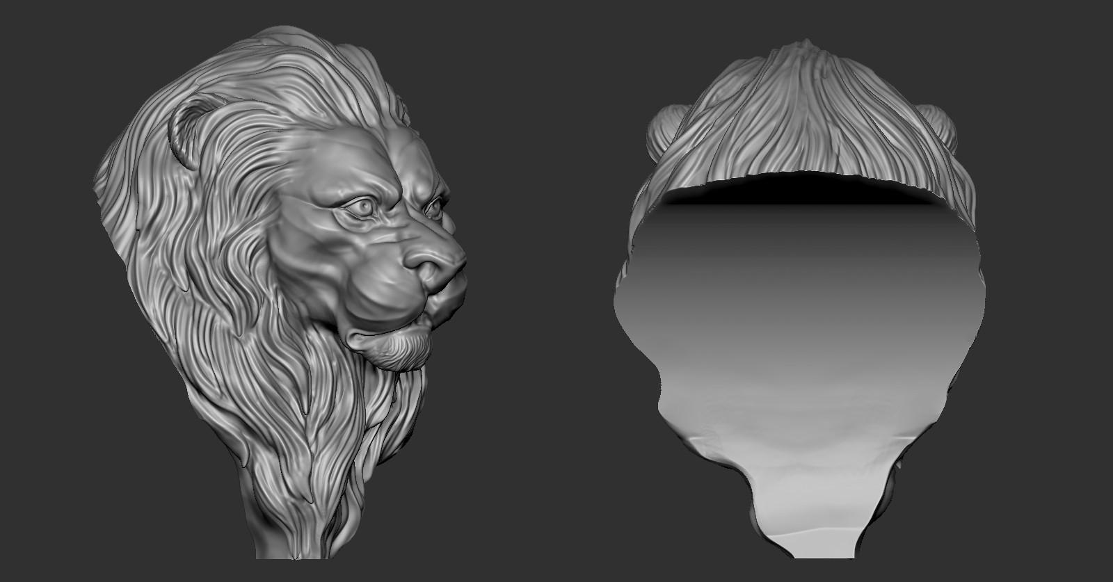 Lion_Zbrush02.jpg Download free OBJ file Lion • 3D printing model, Dynastinae