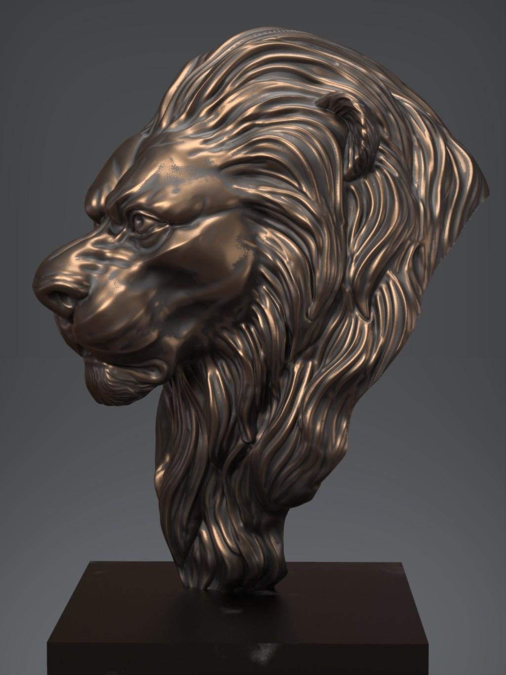 Lion02.jpg Download free OBJ file Lion • 3D printing model, Dynastinae